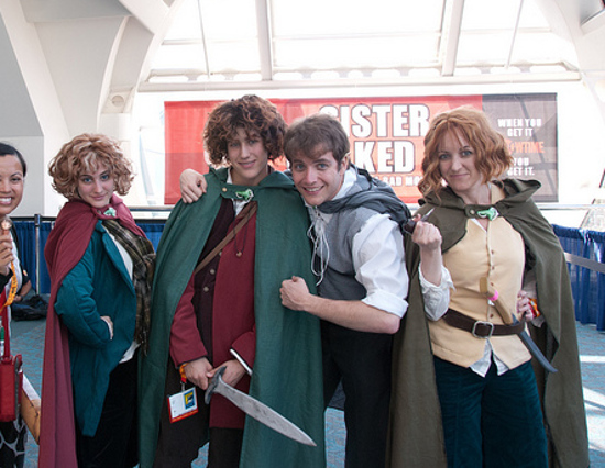 San Diego International Comic-Con cosplayers LOTR Hobbit style group