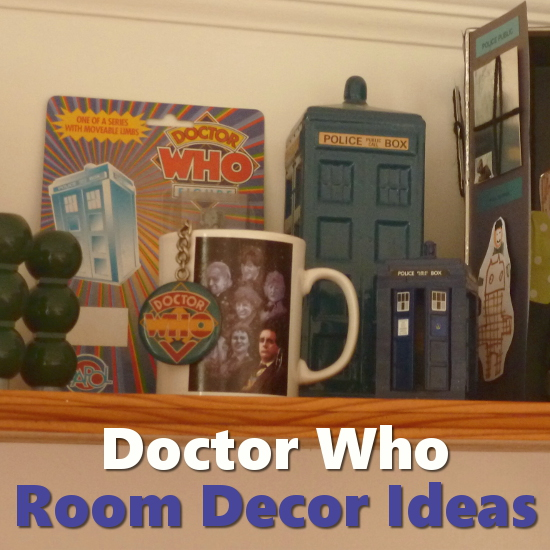Dr Who room shelf bedroom trinkets Tardis collectibles