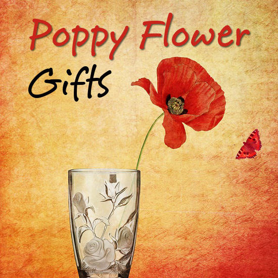 poppy flower themed gifts for women floral items collectibles