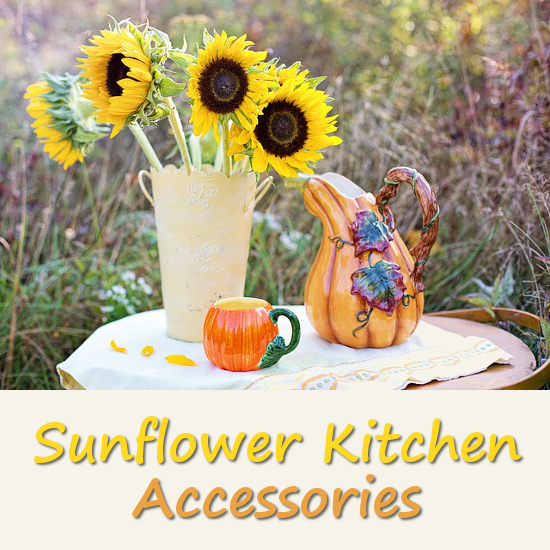 Beautiful Sunflower Kitchen Accessories And Items
