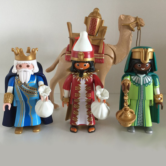Playmobil camel three wise men figures