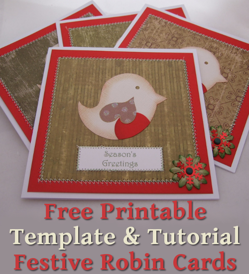 Sweet Robin bird festive cards in red and green ideal for Christmas Holiday Season crafting DIY crafts papercrafts