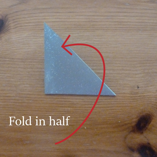 Paper triangle folded twice how to make a christmas paper star