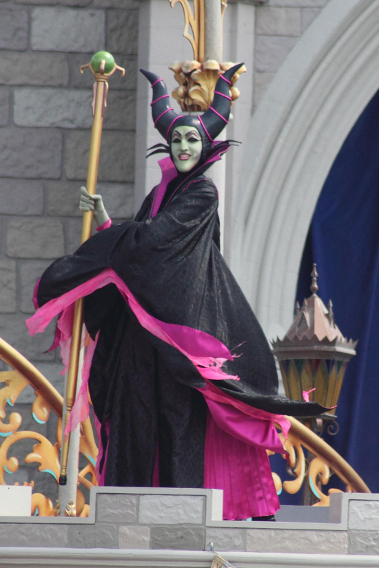 Disney villain Maleficent black and pink robed costume style