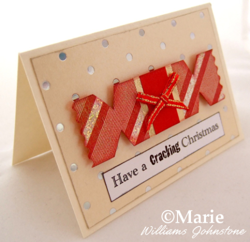 Cracker handmade festive cards with short quote sentiment have a cracking good Christmas Holiday season
