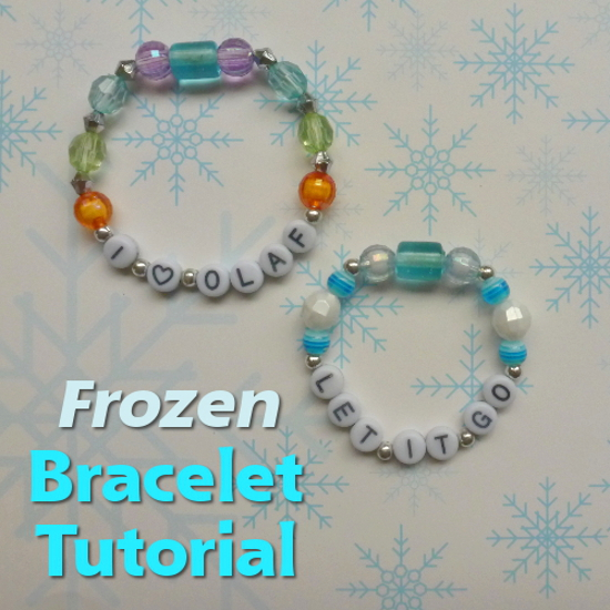How to Make a Frozen Winter Bracelet Craft DIY: Perfect for Party Favors, Crafting Activities With a Disney Theme Kids Crafts