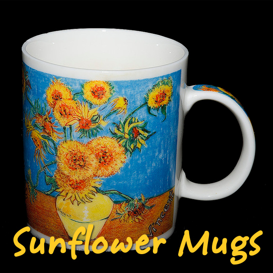 Bright and Cheerful Sunflower Coffee Mugs to Choose From gifts kitchen accessories