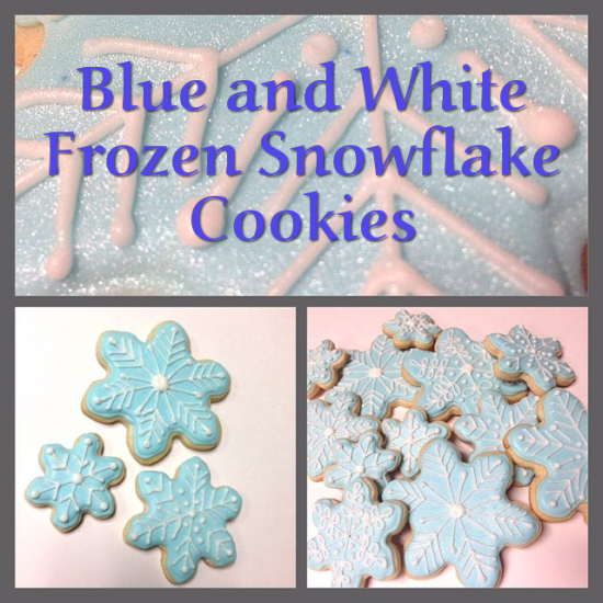 How to Make These Easy Frozen Winter Themed Blue and White Snowflake Cookies Christmas Treat Recipe
