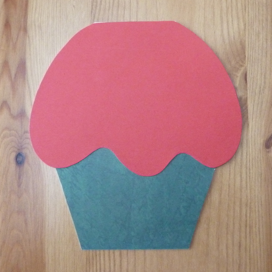 Basic christmas cupcake shaped card colors