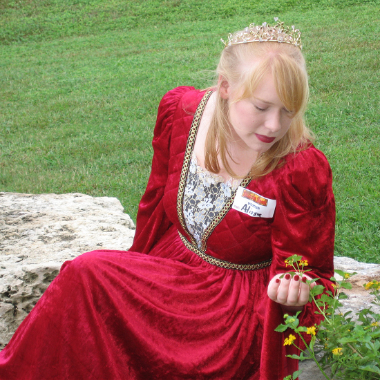 Dressing as Princess Buttercup from The Princess Bride Red Dress