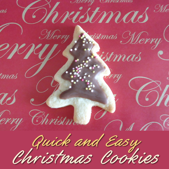 Quick and Easy Christmas Tree Cookies Recipe with Chocolate Icing Last Minute Make for Festive Holiday Season