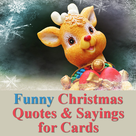 Funny Christmas Quotes: Short Sayings and Sentiments Ideal for Cards and Crafts