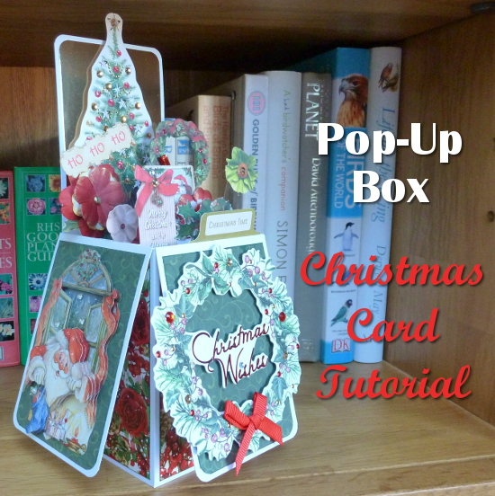 How to Make a Pop Up Box Christmas Card in EASY Steps festive Holiday seasonal cardmaking craft project tutorial paper crafts papercraft