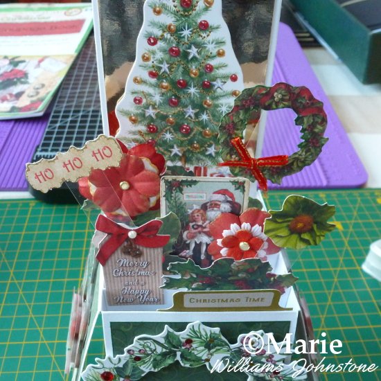 Adding Pop-Up Elements to the Inside of the Christmas Pop Up Box Card