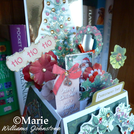 Inside the Christmas Holiday seasonal box card pop up design
