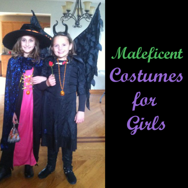 Maleficent Girls Costume for Halloween Girl Dress Costume Sleeping Beauty Movie outfit Fancy dress dressing up