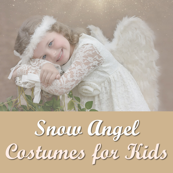 Snow Angel costumes for a child kids girl white dresses outfits for a winter party Christmas and Halloween